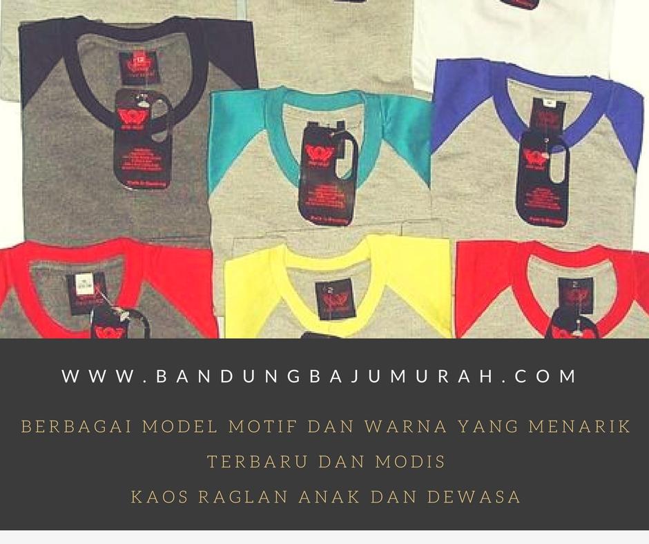 Berbagai Pilihan Model Kaos Raglan Bandung