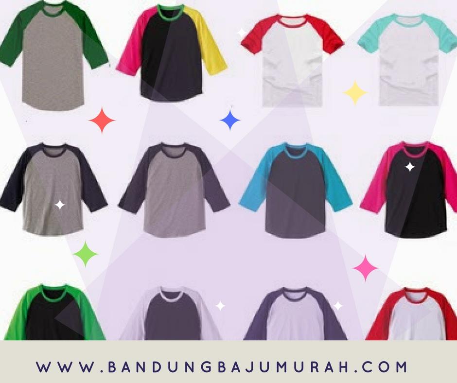 Obral Grosir Kaos Raglan Bandung