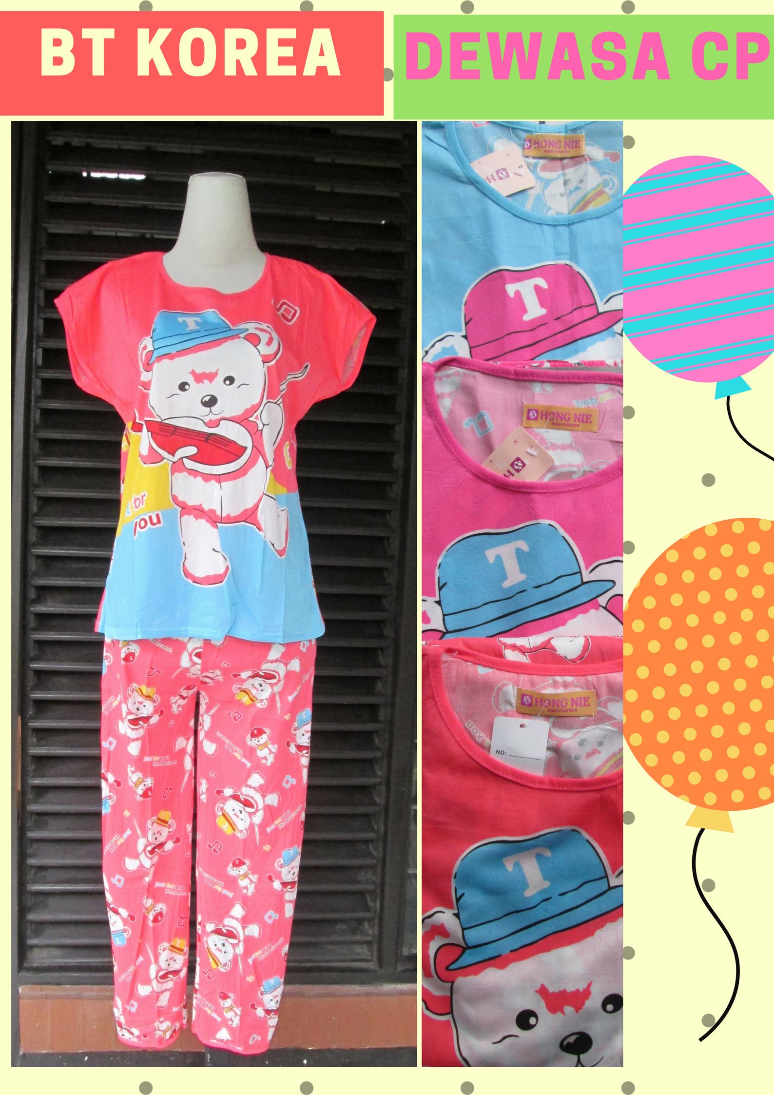 Distributor Baju Tidur KOREA CP DEWASA Murah