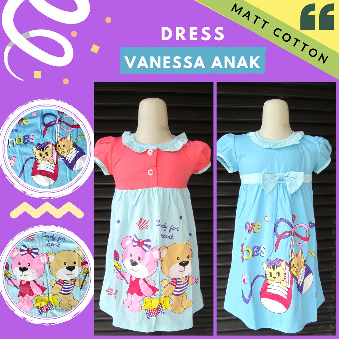 Konveksi Dress Vanessa Karakter Anak Murah