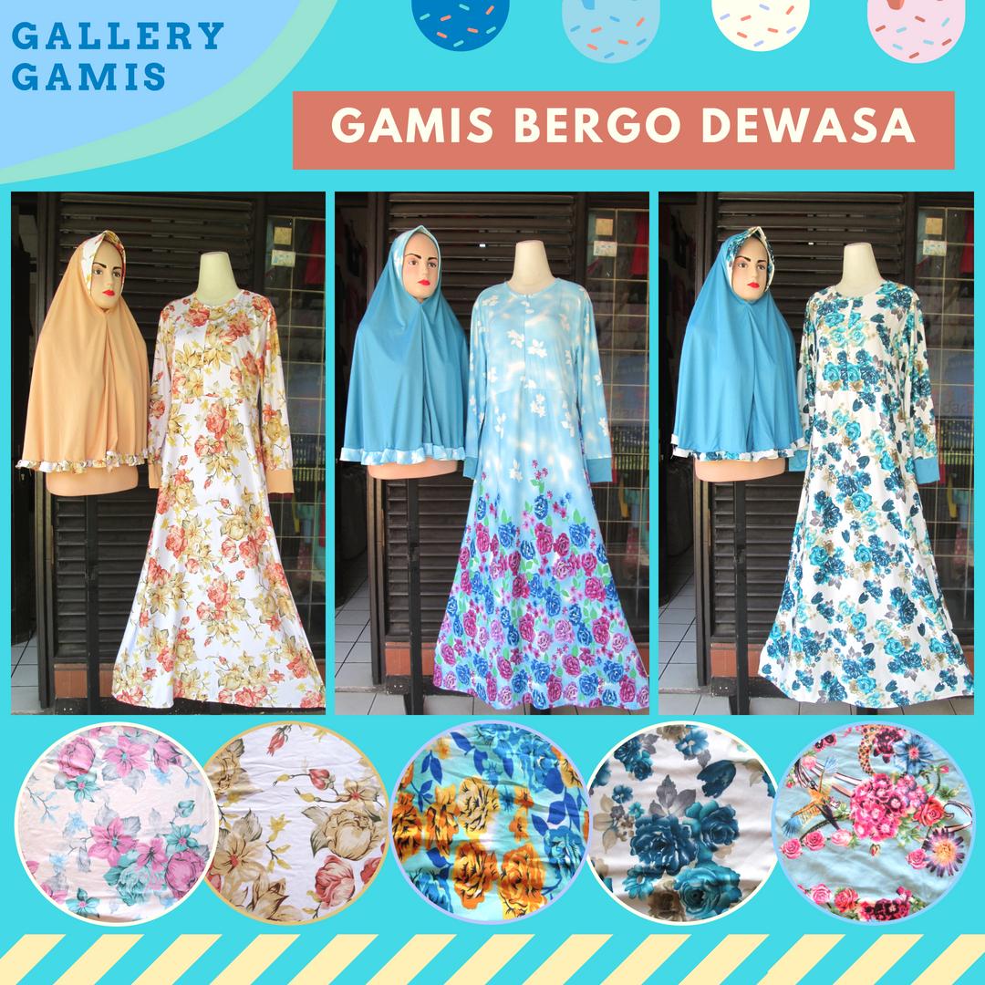 Pusat Grosir Gamis Bergo Dewasa Syar'i Murah di Bandung