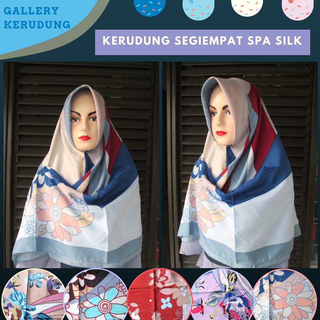 Supplier Kerudung Segiempat Spa Silk Dewasa Murah Bandung