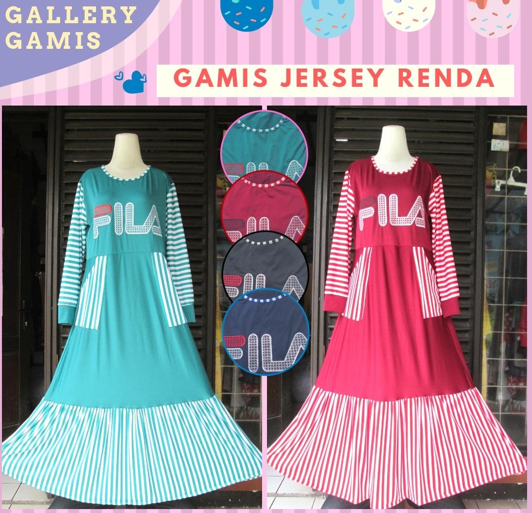 Distributor Gamis Jersey Renda Murah di Bandung