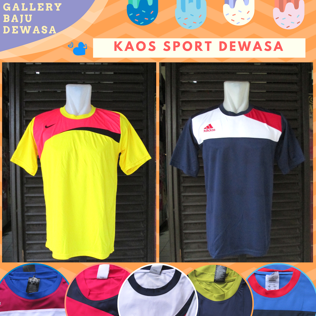 Konveksi Kaos Sport Dewasa Murah di Bandung