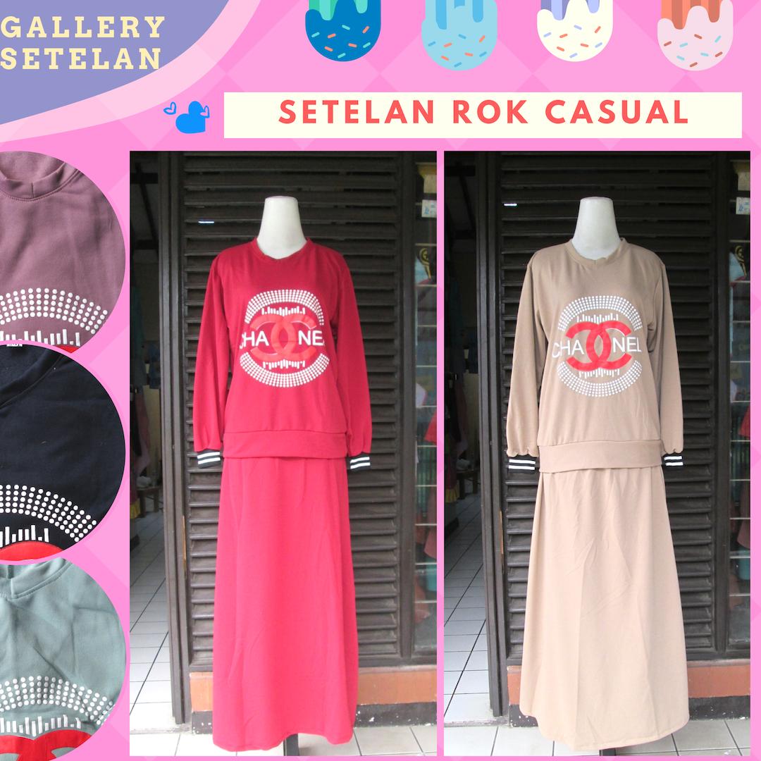 Distributor Setelan Rok Casual Wanita Dewas Murah di Bandung