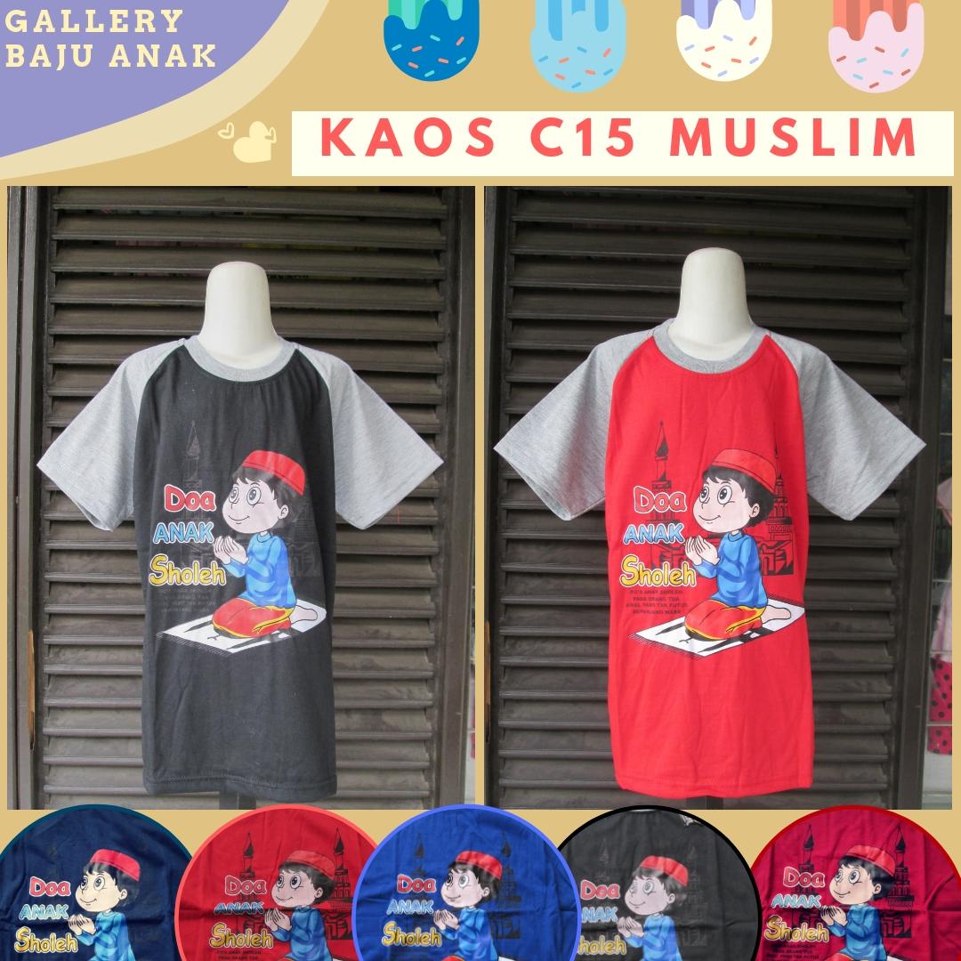 Pusat Grosir Kaos C15 Muslim Anak Laki Laki Murah di Bandung