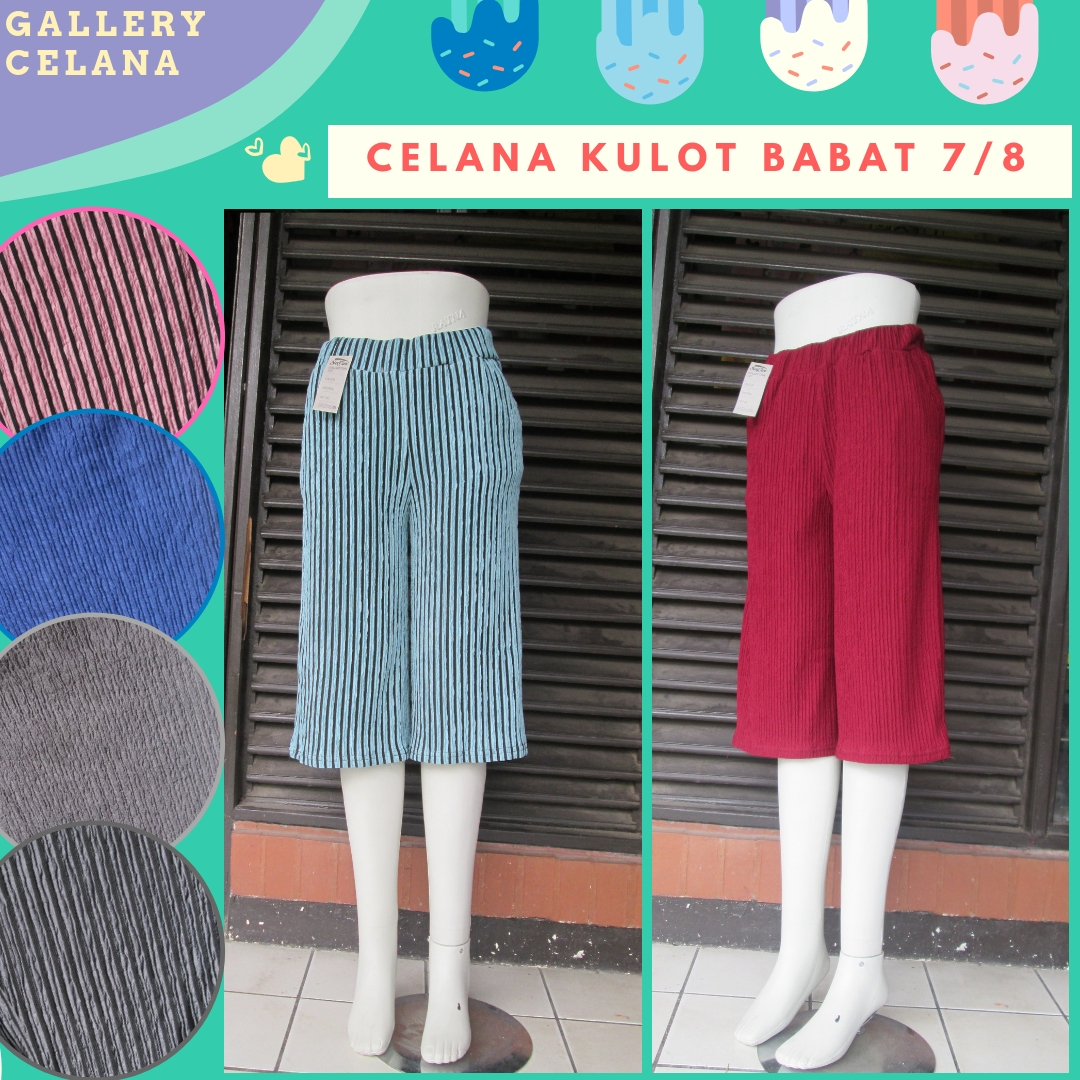 Supplier Celana Kulot Babat 7/8 Dewasa Murah di Bandung