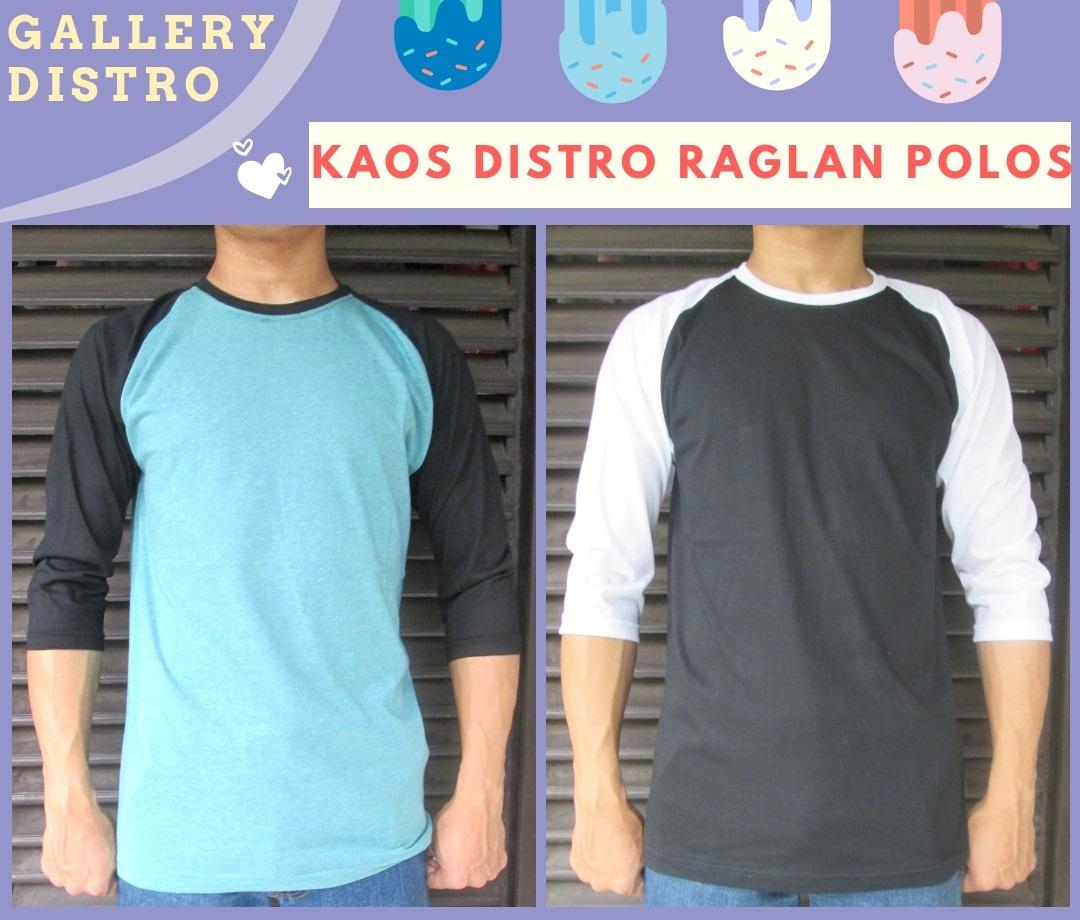 Supplier Kaos Distro Raglan Polos Dewasa Murah di Bandung