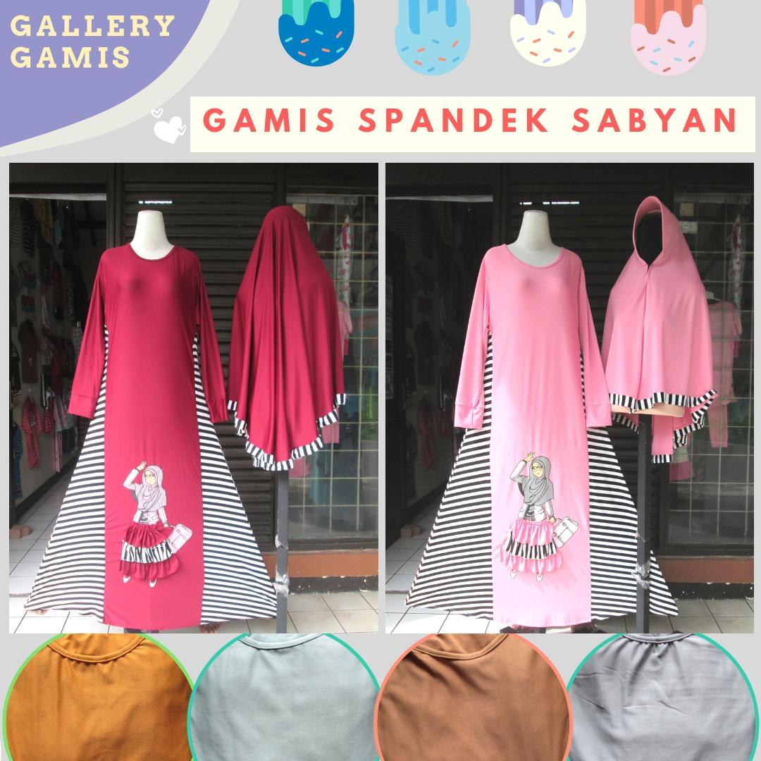 Supplier Gamis Spandek Sabyan Syar'i Murah di Bandung