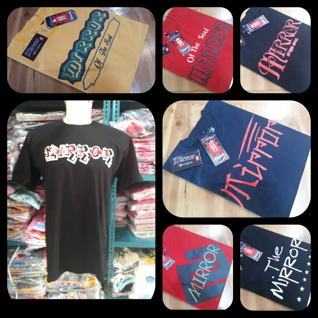 Distributor Kaos Distro Mirror Brand Murah di Bandung