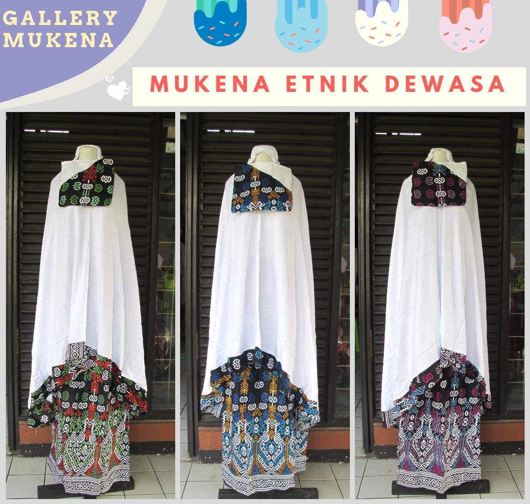 Grosiran Mukena Etnik Dewasa Murah di Bandung