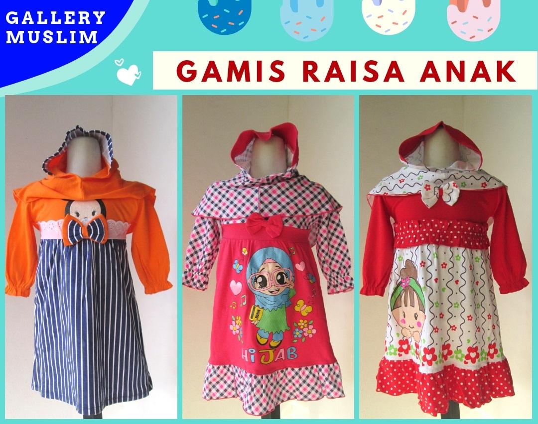 Supplier Gamis Raisa Anak Perempuan Murah di Bandung