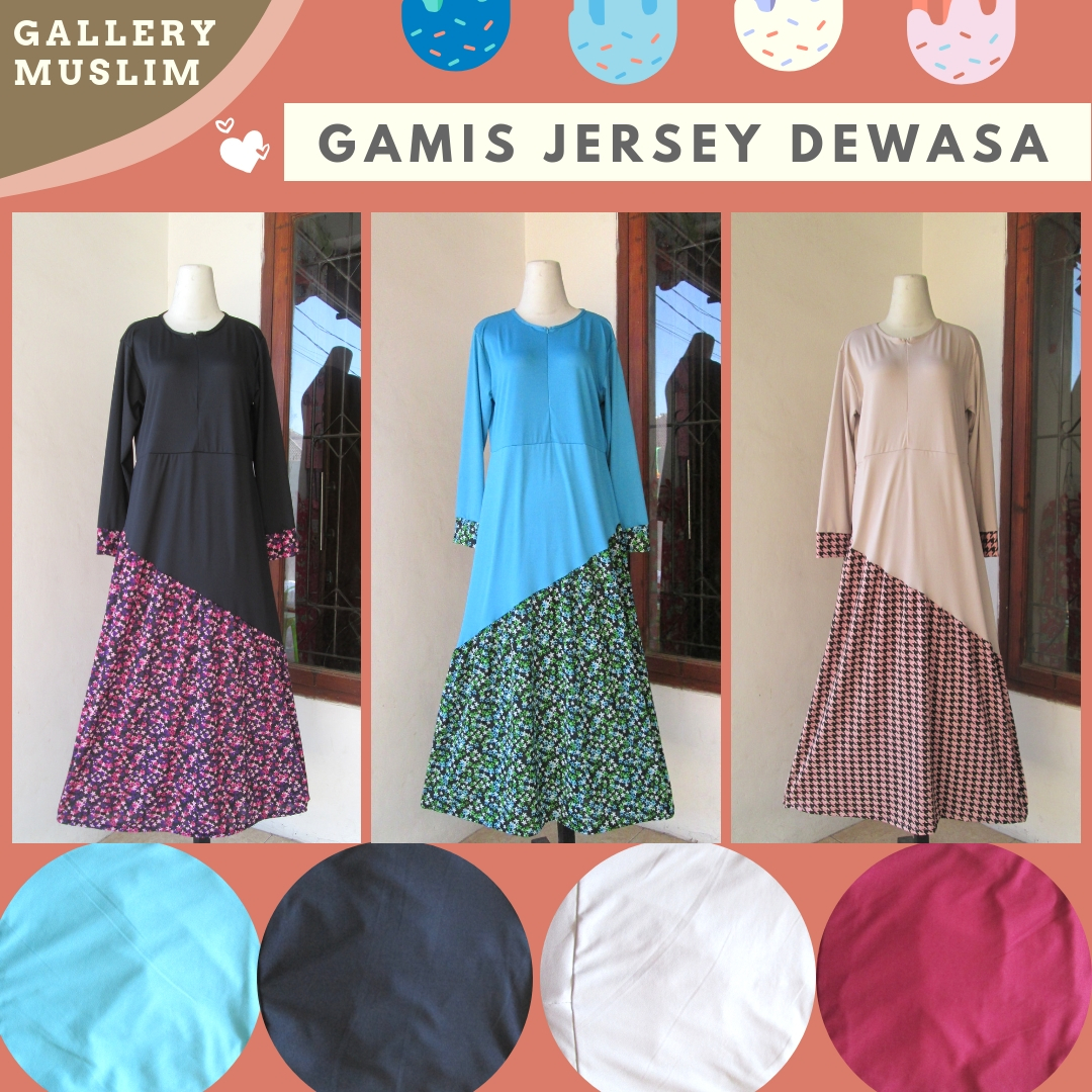 Supplier Gamis Jersey Dewasa termurah di Bandung
