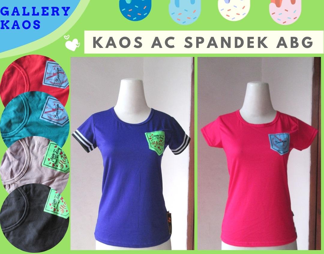 Grosiran Kaos AC Spandek ABG Terbaru Murah di Bandung