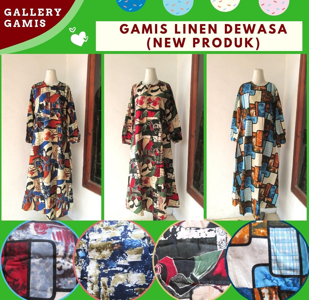 Reseller Gamis Linen Dewasa termurah di Bandung