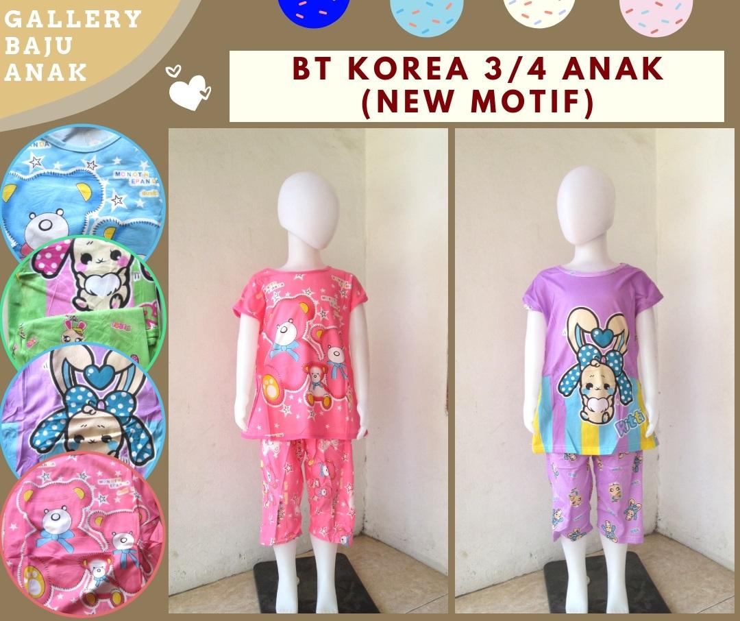 Distributor Baju Tidur Korea 3/4 Anak perempuan Murah di BAndung