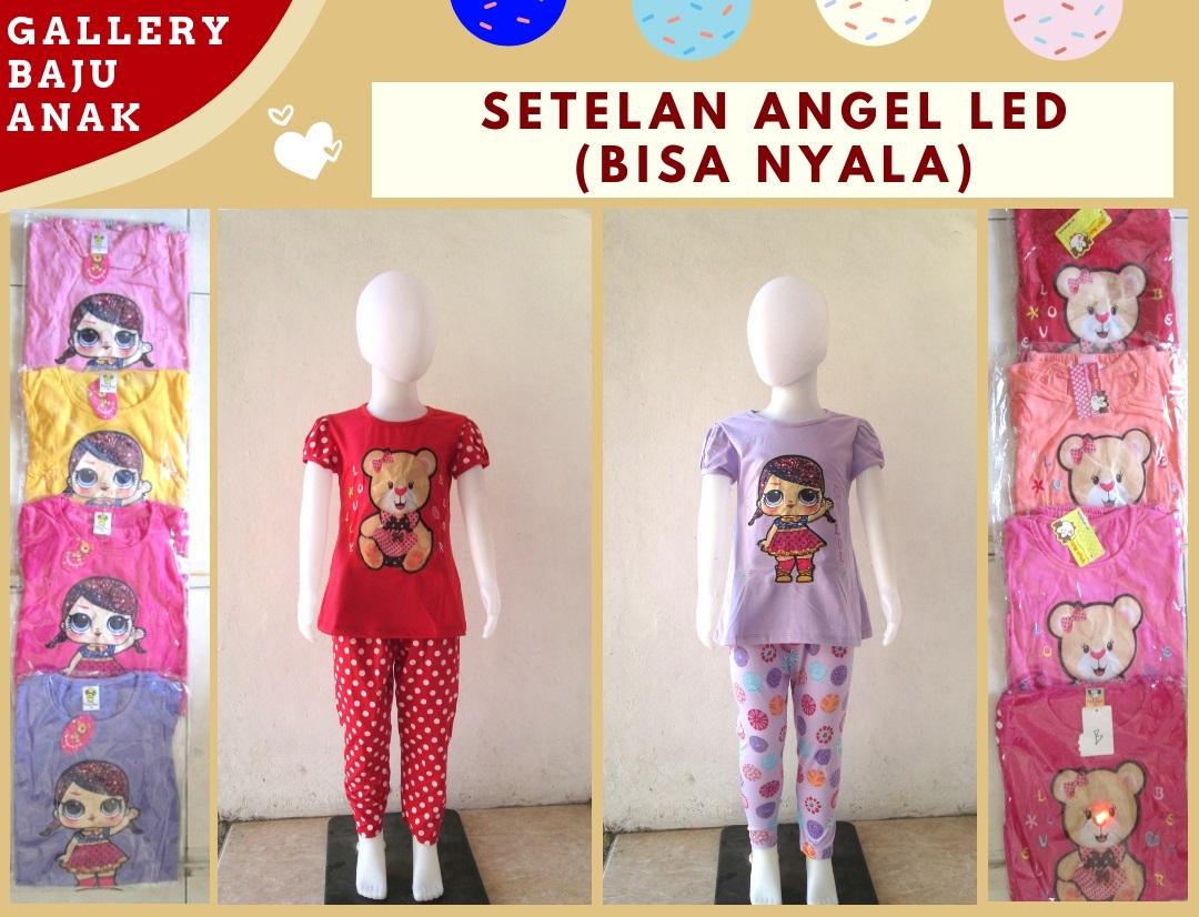 Supplier Setelan Angel LED Anak Perempuan Bisa Menyala Murah