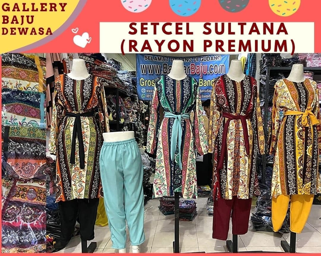 setelan sultan rayon