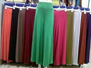 Pusat Grosir Celana Kulot Jersey Wanita Dewasa Murah 32Ribuan