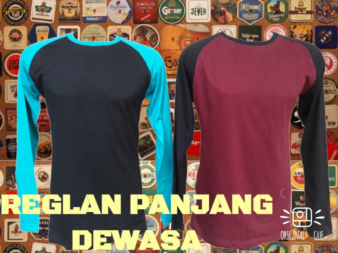Sentra Grosir Kaos Raglan Panjang Dewasa Murah Bandung 32Ribu