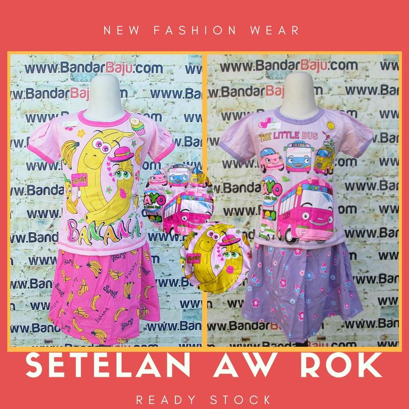 Supplier Setelan AW Rok Anak Perempuan Murah Bandung 22Ribu
