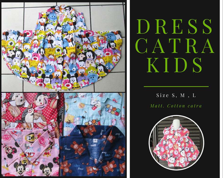 Konveksi Dress Catra Kids Karakter Murah Bandung 22Ribu