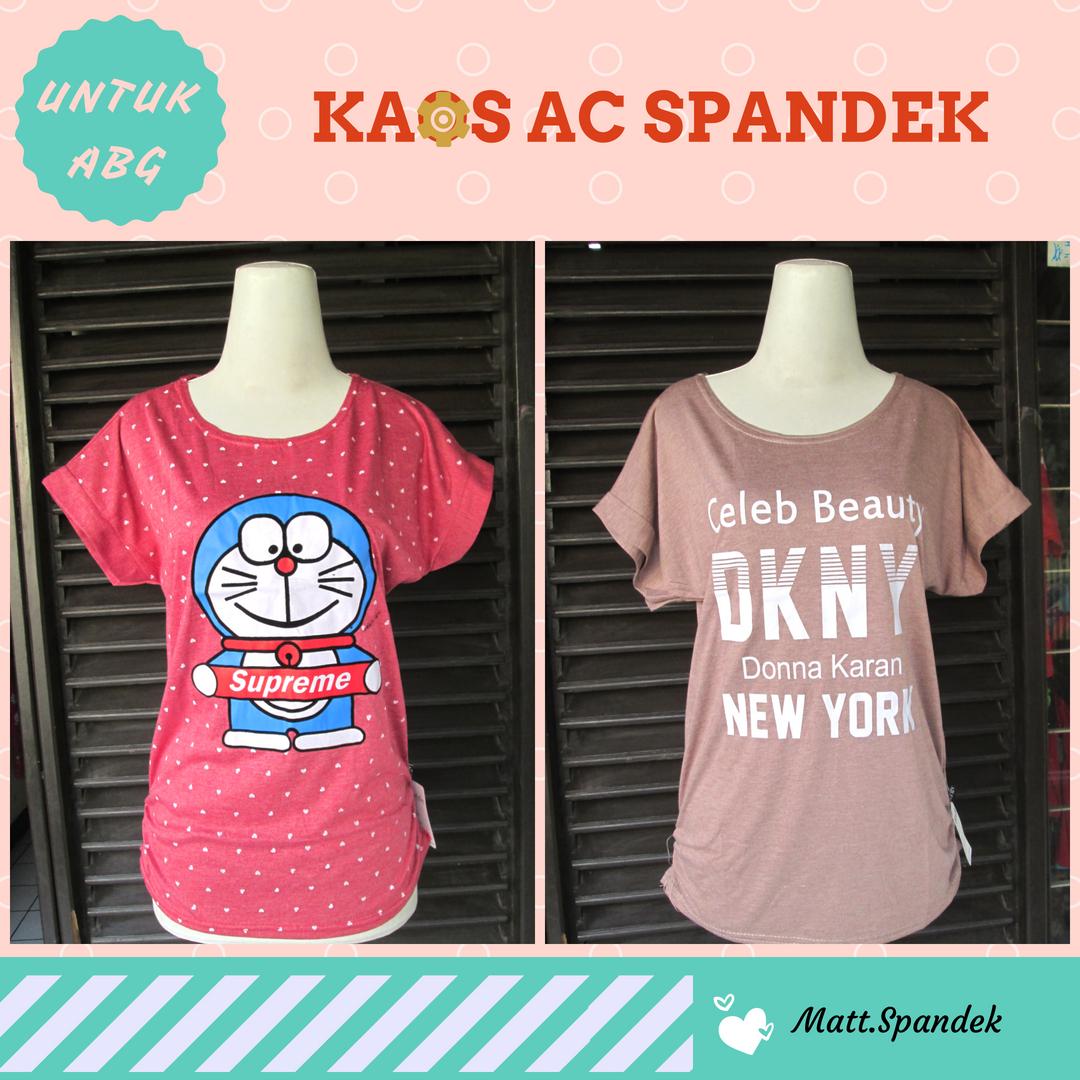Supplier Kaos AC Spandek ABG Murah Bandung Rp.13.500