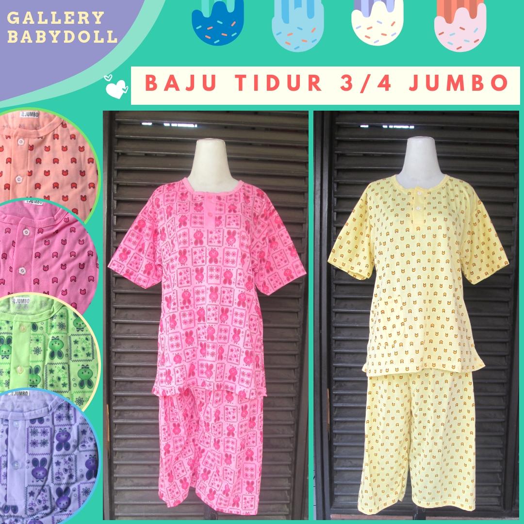 Grosiran Baju Tidur Katun Dewasa 3/4 Jumbo Murah di Bandung 30Ribu