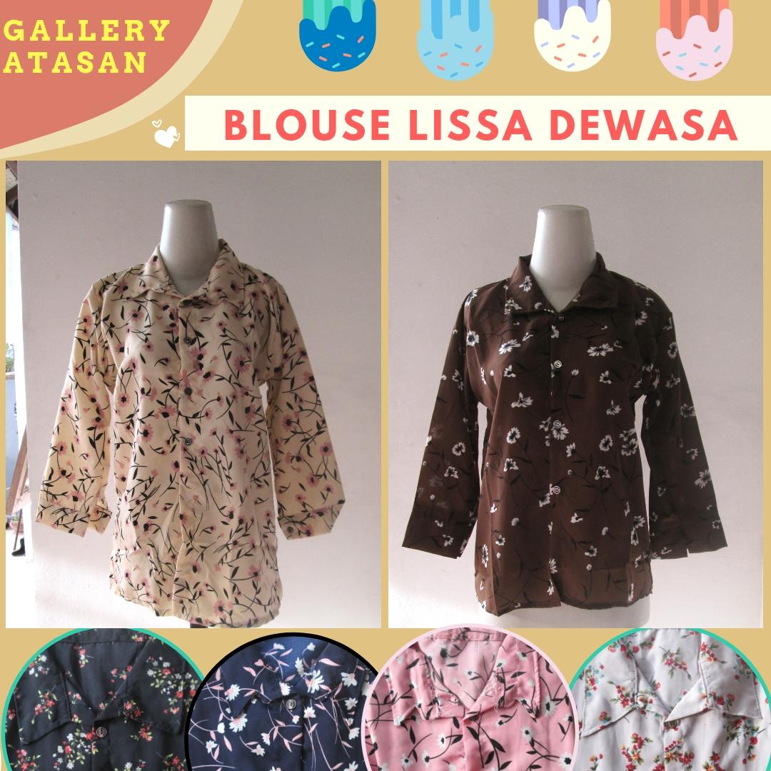 Supplier Blouse Lissa Wanita Dewasa Murah di Bandung 30Ribuan Saja