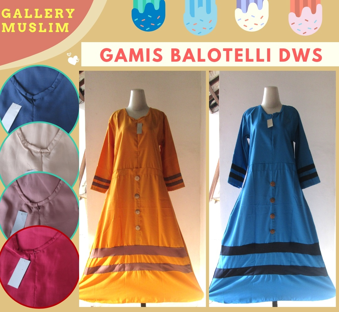 Distributor Gamis Balotelli Wanita Dewasa Murah di Bandung 52Ribuan