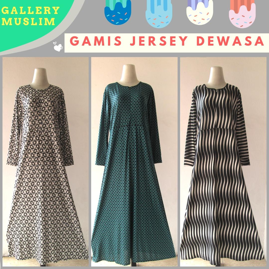 Distributor Gamis Jersey Wanita Dewasa Terbaru MURAH di Bandung 40ribuan