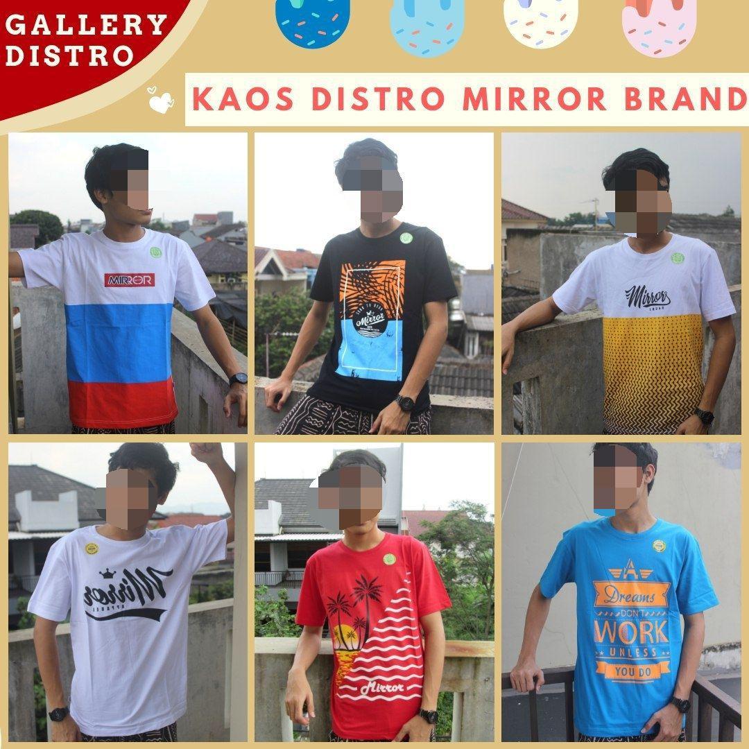 Supplier Kaos Distro Mirror Brand Original Murah di Bandung Mulai 36RIBUAN