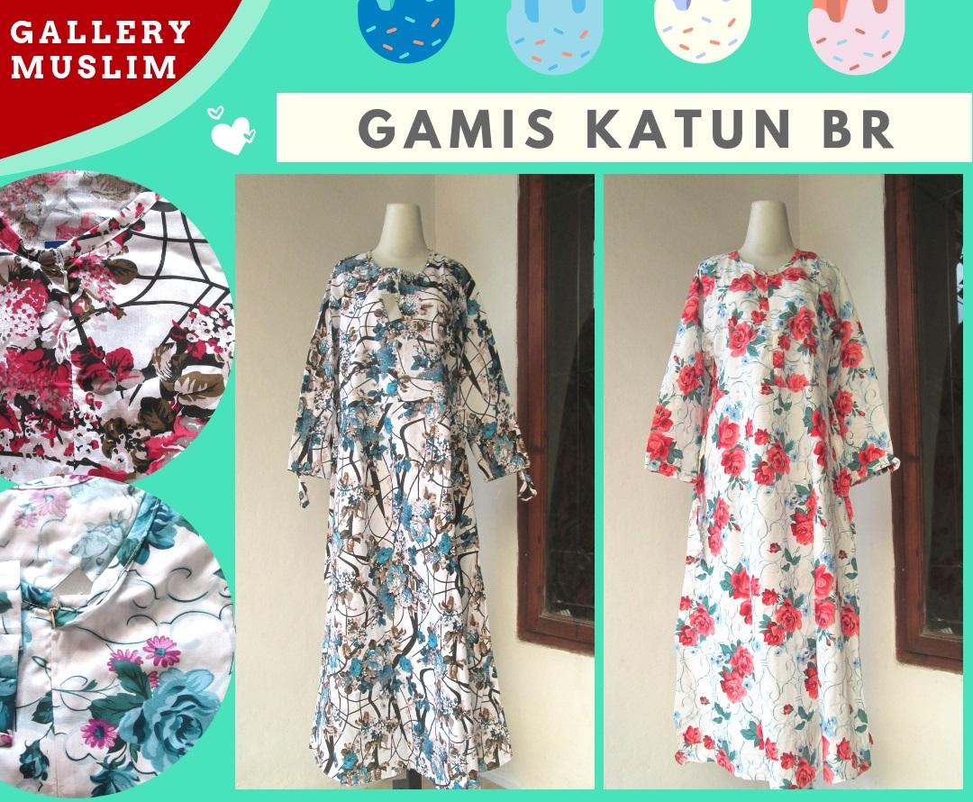 Supplier Gamis Katun BR Dewasa Terbaru Murah di Bandung 55Ribuan