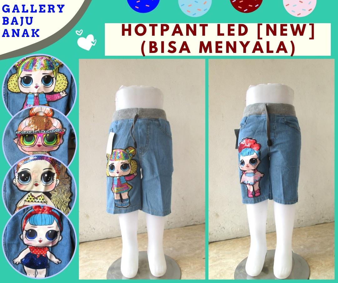 Konveksi Celana Hotpant Jeans LED Anak Terbaru Murah di Bandung Hanya Rp.38.000