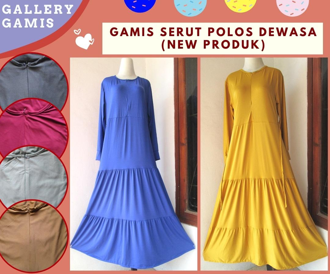 Supplier Gamis Serut Polos Wanita Dewasa Termurah di Bandung hanya 42RIBUAN