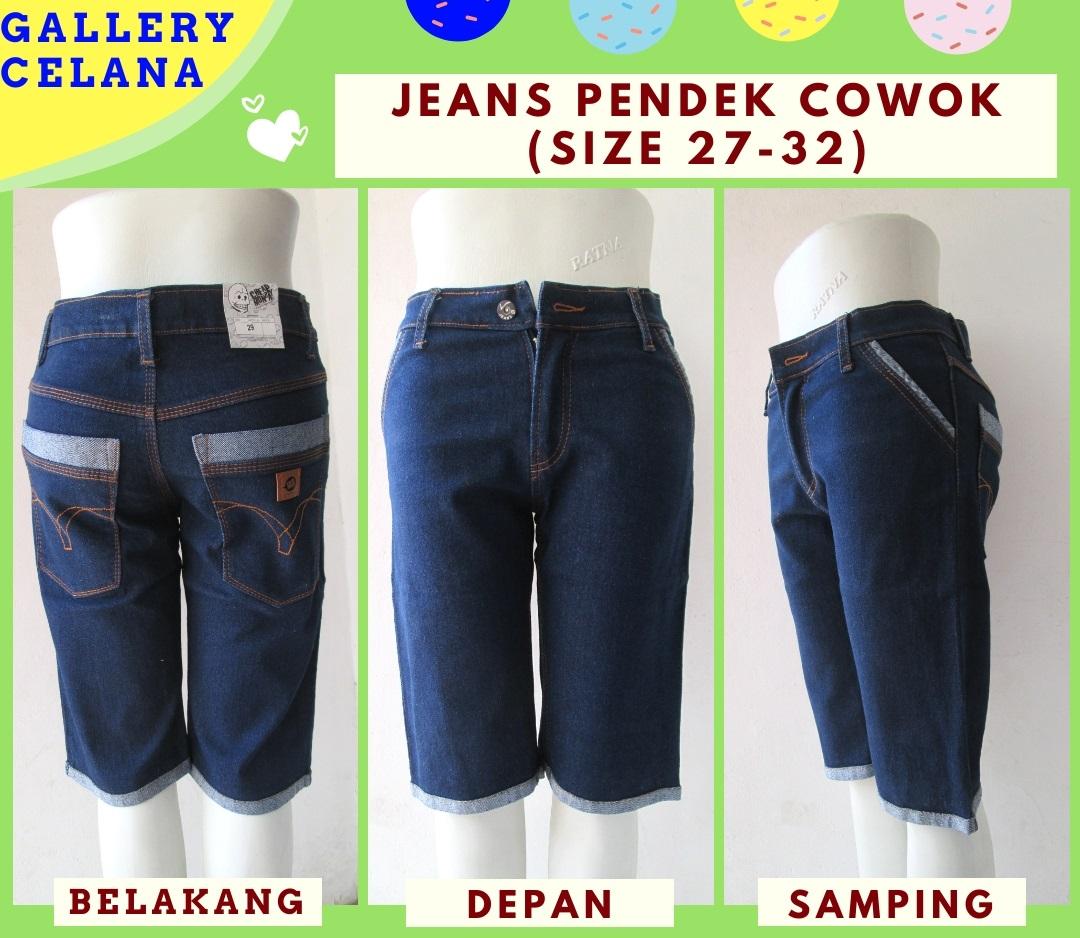 Distributor Celana Jeans Denim Pendek Pria Dewasa Murah Hanya Rp.39.500