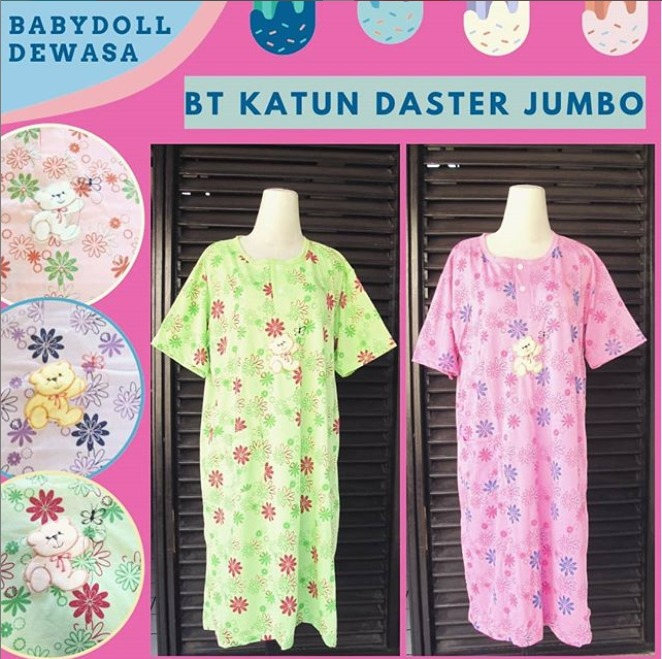 Distributor Babydoll Daster Jumbo di Bandung Rp 26000