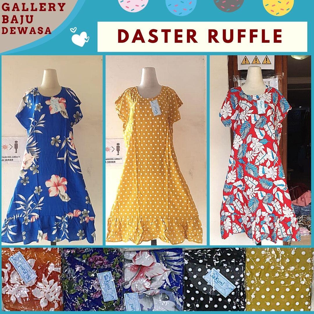 Grosir Daster Ruffle Motif di Bandung Rp 35000