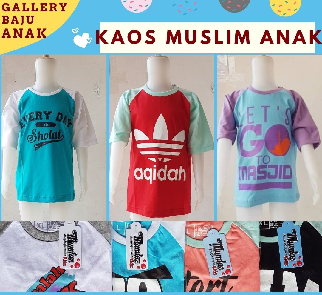 Pabrik Kaos Muslim Anak di Bandung Rp 15500