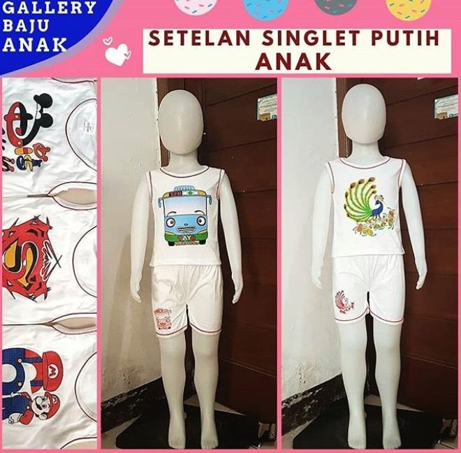 Distributor Setelan Singlet Anak di Bandung Rp 15000