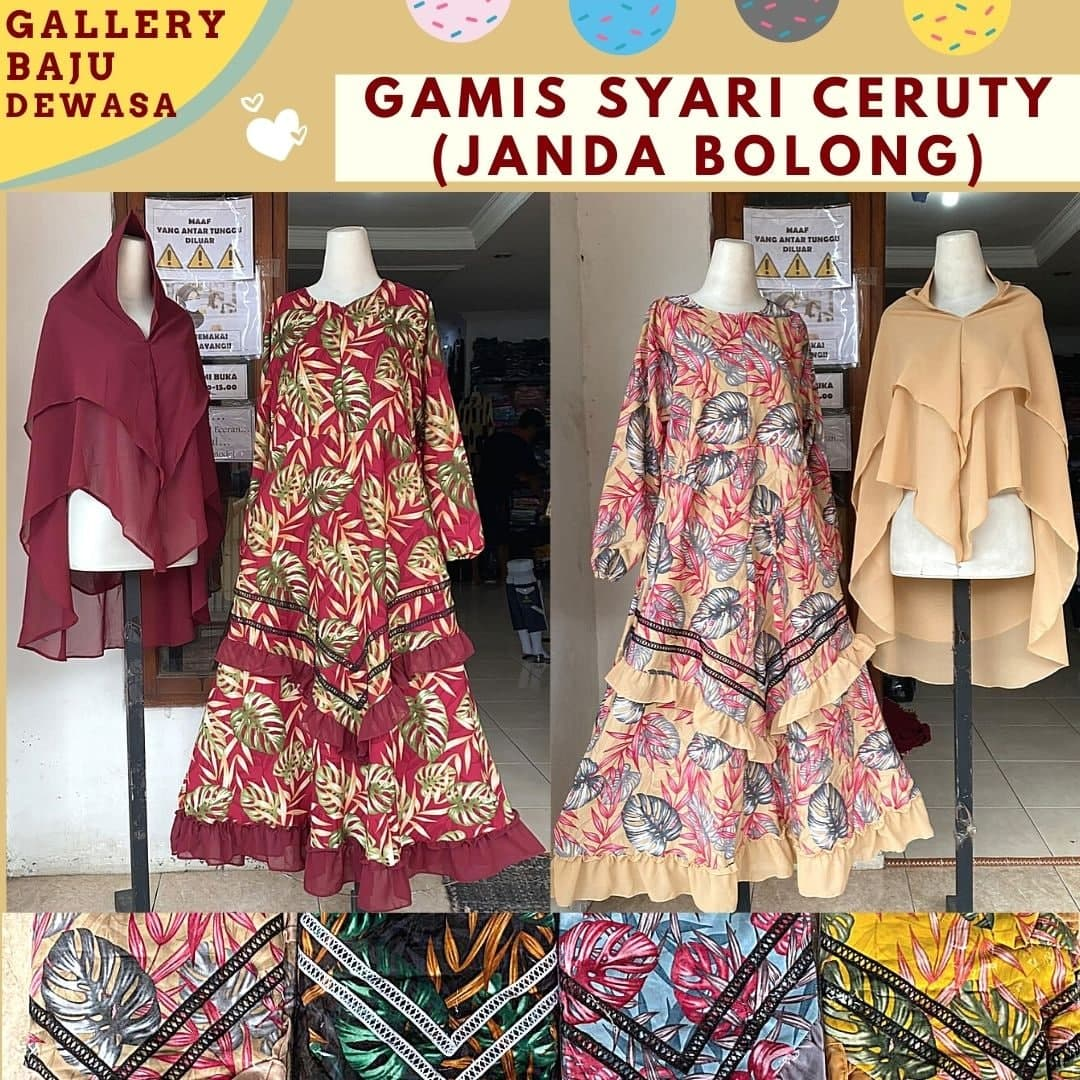 Grosir Gamis Syar'i Dewasa di Bandung Rp 105,000