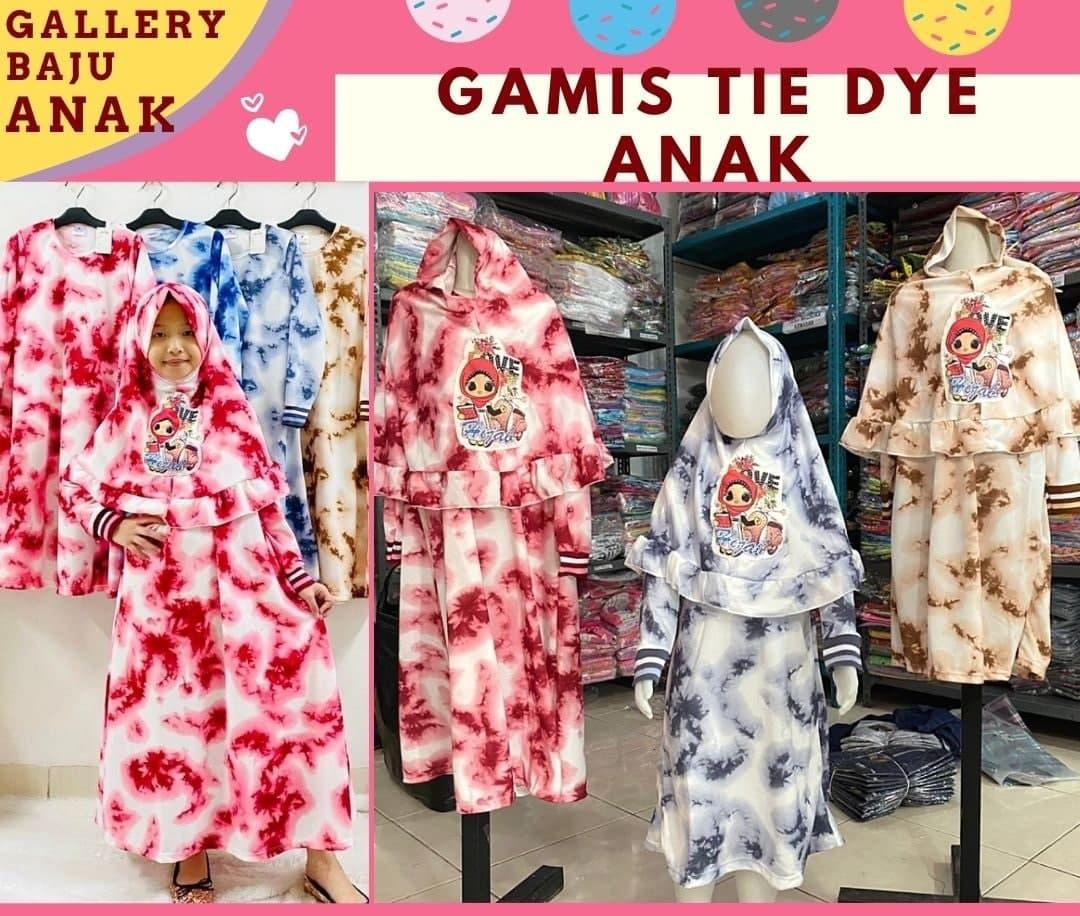 Grosir Gamis Tie Dye Anak di Bandung Murah