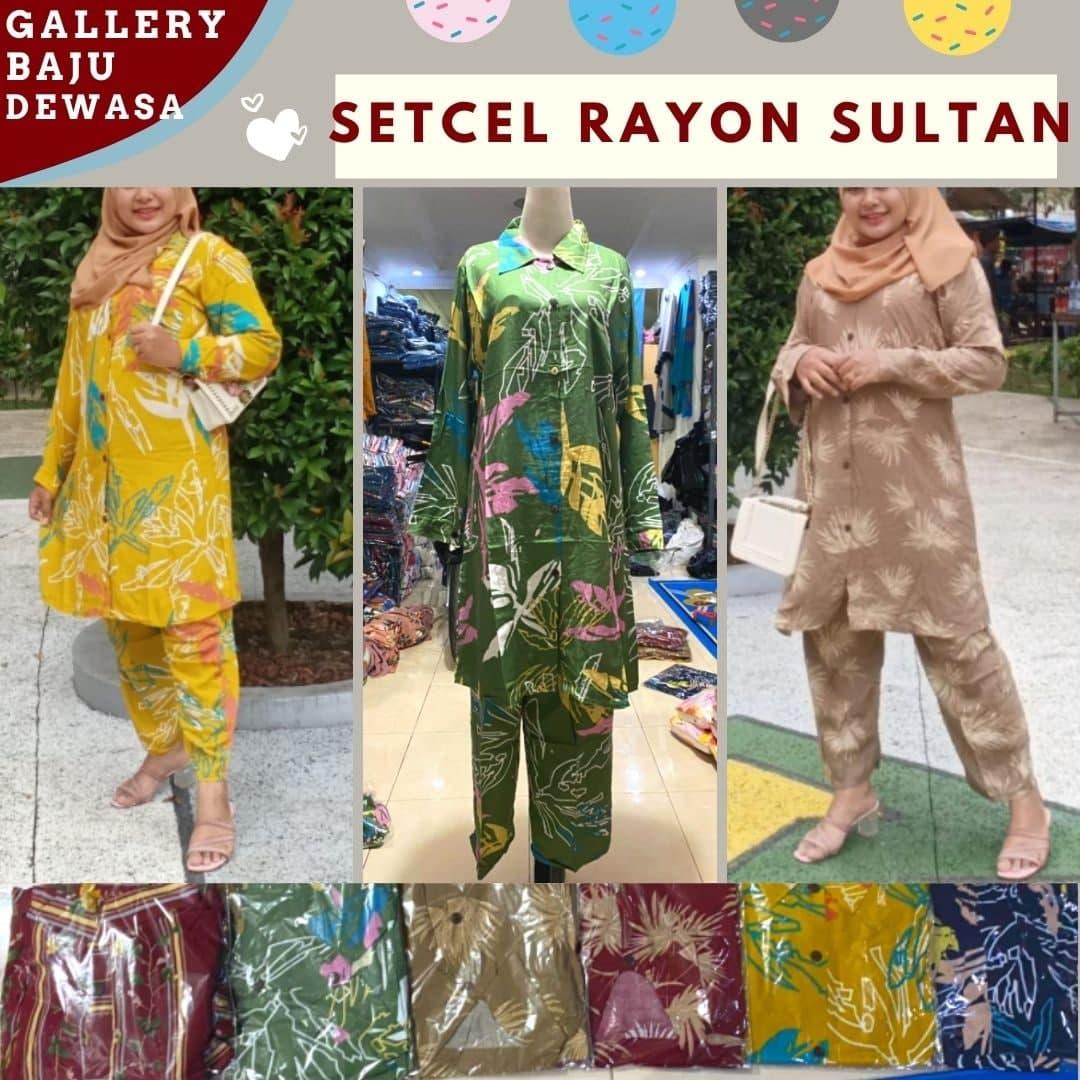 Konveksi Setelan Sultan Rayon di Bandung Rp 84000