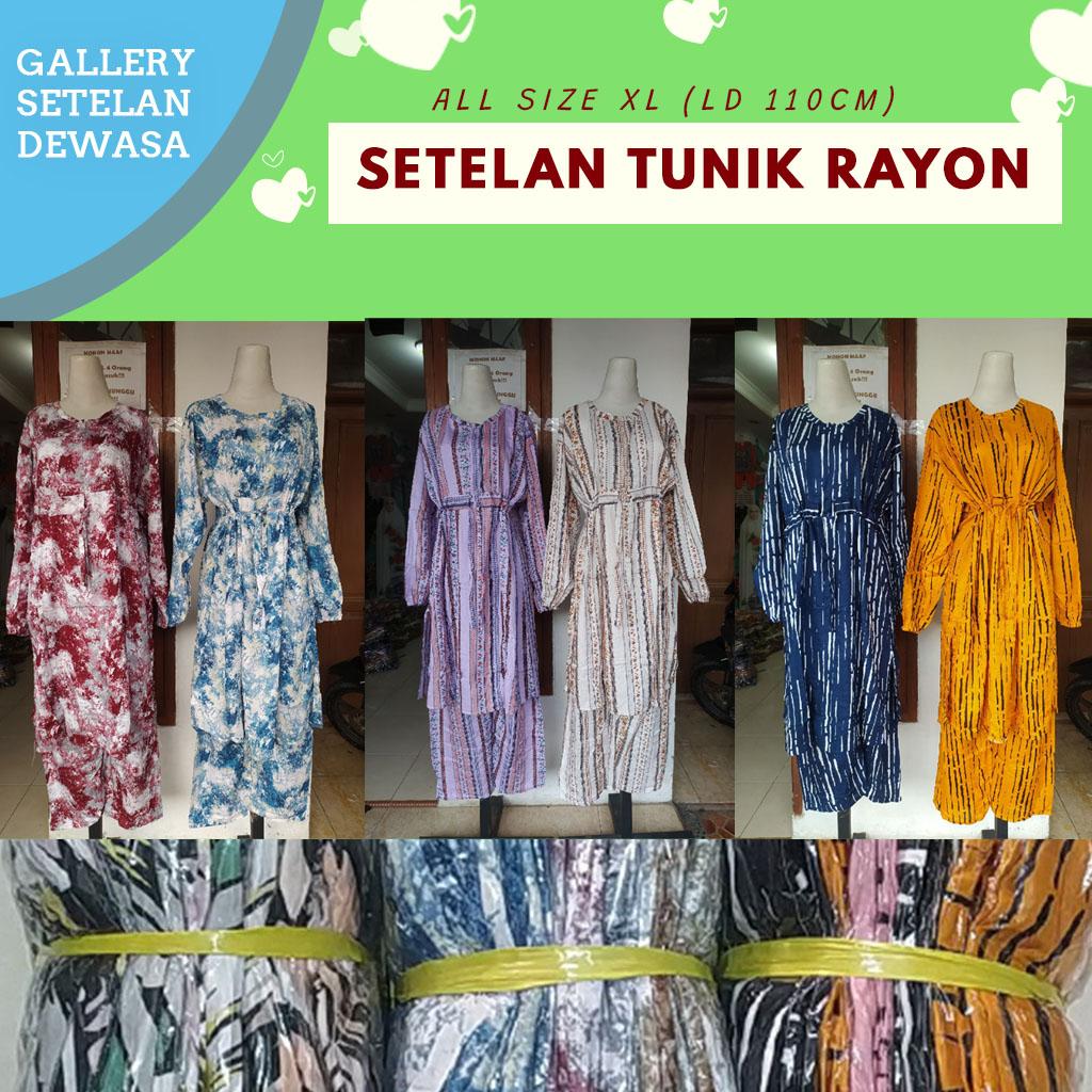 Pabrik Setelan Tunik Rayon di Bandung Rp 70000