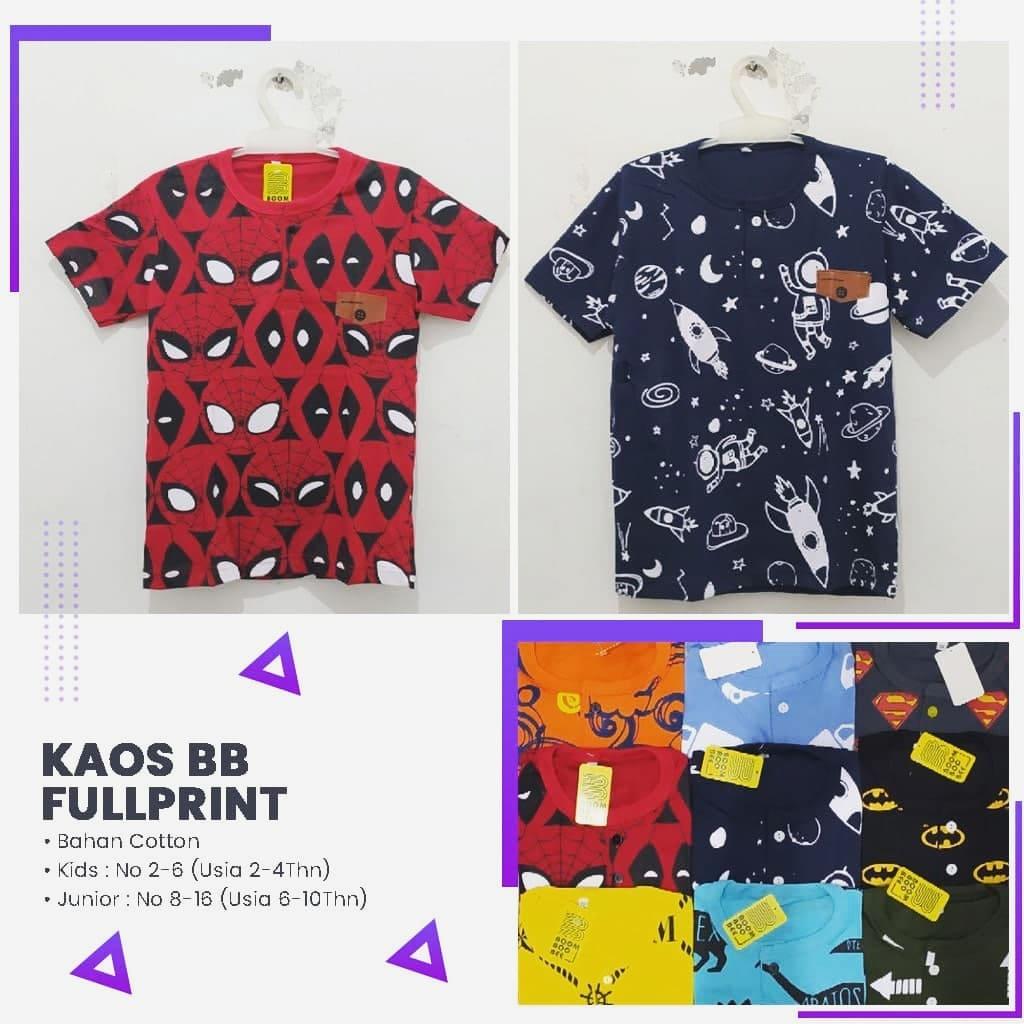 Distributor Kaos BB Fulprint Termurah Rp 23.000